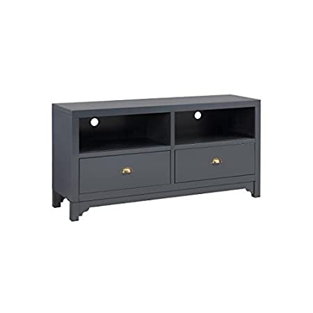 Camden - Mueble para televisor, 120cm, color gris oscuro