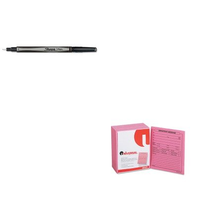 KITSAN1742663UNV48023 - Value Kit - Sharpie Plastic Point Stick Permanent Water Resistant Pen (SAN1742663) and Universal Important Message Pink Pads (UNV48023) kitred5l350unv35668 value kit rediform sales book red5l350 and universal standard self stick notes unv35668