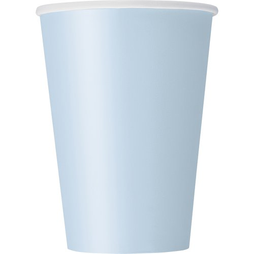 Paper Cups, 12 Ounce, Baby Blue, 10 Count