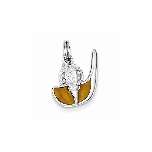 Jewelry Best Seller Sterling Silver Enamel Golf Club & Ball Charm