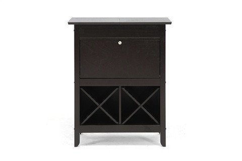 Baxton Studio Tuscany Brown Modern Dry Bar and Wine Cabinet (Hutch Wine Rack compare prices)