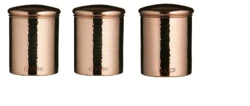 Copper Tea Coffee Sugar Canisters Copper Tea Coffee Sugar