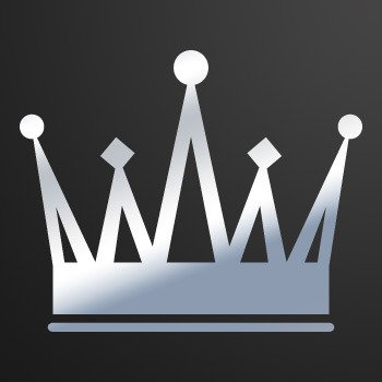 Royal Crown Chess Queen King Kingdom ... Chrome Mirror (07 X 5.7 inch) ZZ249