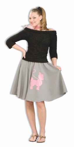 Forum Novelties Women's Fabulous 50's Sock Hop Black Costume Sweater Top