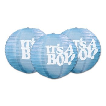Beistle 54576 3-Pack It'S A Boy! Paper Lanterns, 9-1/2-Inch front-1042770