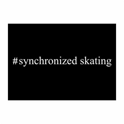 Teeburon Hashtag Synchronized Skating Pack of 4 Decal