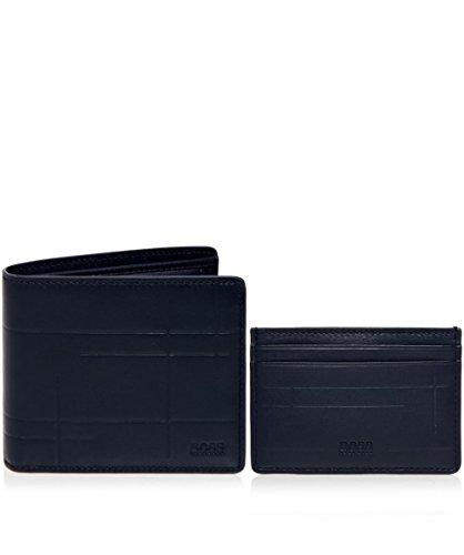 BOSS Hugo Boss Uomo Set regalo portafoglio Blu Marino Unica Taglia