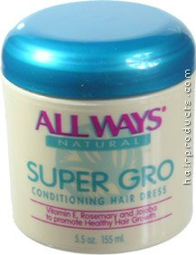 Buy ALL WAYS Natural Super Gro Conditioning Hair Dress to Promote Healthy Hair & Growth 5.5oz/155ml (All Ways Hair Conditioners, Conditioners, Moisturizing)