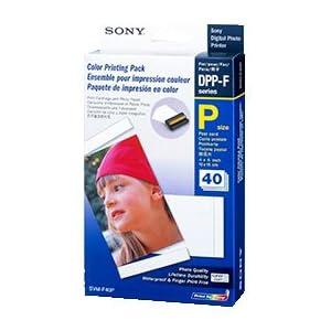 Sony - SVM-F40P - Papier Photo Brillant - 40 Feuilles + 1 cartouche pour imprimantes série DPP-FP