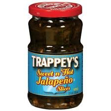 Trappey's Sweet N' Hot Jalapeno Slices 12oz Jar (Pack of 6)