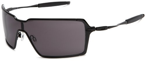 78d28020c2e2 Oakley Men's Probation Metal Sunglasses,Polished Black Frame/Warm Grey  Lens,one size