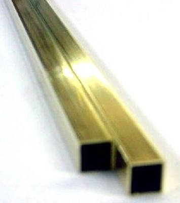"K&S Square Tube 1/4"" D X 12"" L Brass Carded"