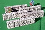 Grey Fieldstone Walls (4) 28mm Miniature Terain