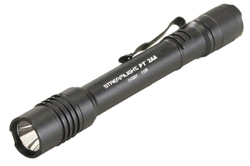 """Streamlight 88033 Protac Tactical Flashlight 2Aa With White Led Includes 2 """"Aa"""" Alkaline Batteries And Holster, Black"""