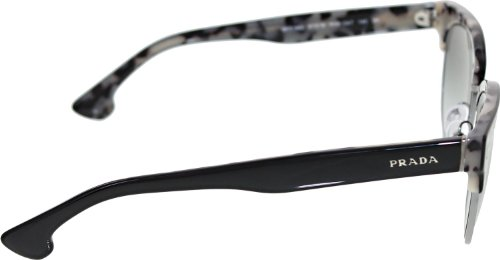prada Prada PR08QS Sunglasses-ROK/0A7 Top Black/White Havana (Gray Gradient Lens)-51mm