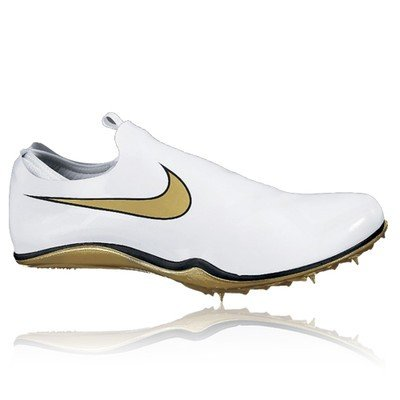 Nike Men\u0027s NIKE ZOOM MAWLER TRACK AND FIELD CLEATS 7.5 (WHITE/METALLIC GOLD-
