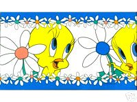 LOONEY TUNES Tweety Bird Blues Wallpaper Border   Wallpaper