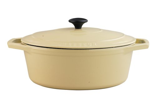 Chasseur Cast Iron 31cm, 4.8ltr Oval Cream Casserole