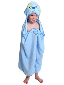 Blue Dog - One of a kind extra large Character Towel with paws and a tail, Frenchie Mini Couture