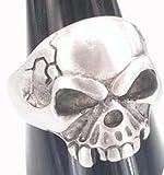 Unique Skull Skeleton King Detailed Pewter Ring