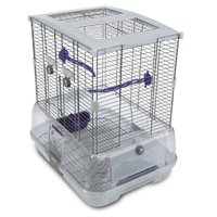 Vision Small Bird Cage S01 19x15x20in. Small Wire Single Height Blue Perches Food/Water Dishes - Vision 83200