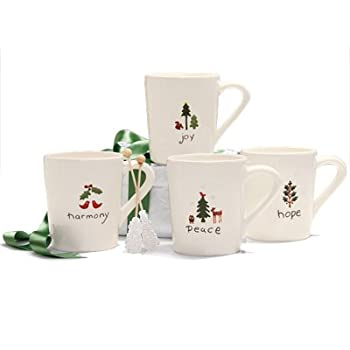 Winter Forest Mugs Set of Four