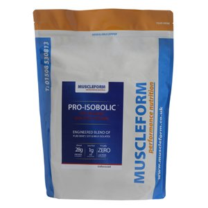 Muscleform PRO-ISOBOLIC 'Time Release' Protein Isolate Blend 1kg Pouch - Fast Delivery - Strawberry