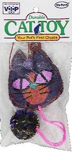 Vo-Toys Burlap Teaser with Mylar Ball Assorted Cat Toy