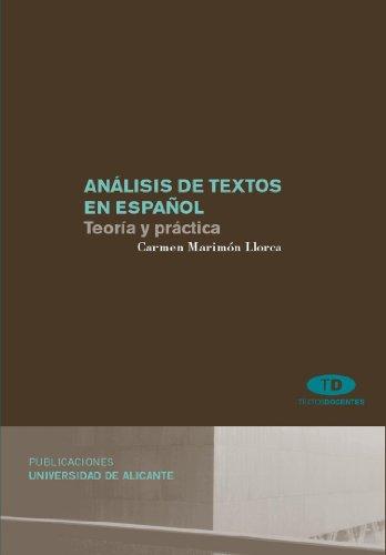 ANALISIS DE TEXTOS EN ESPAÑOL