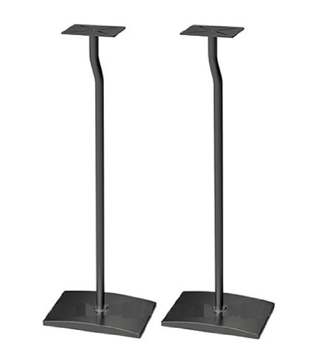Mount-It Satellite Speaker Floor Stand (Set Of 2) - Black