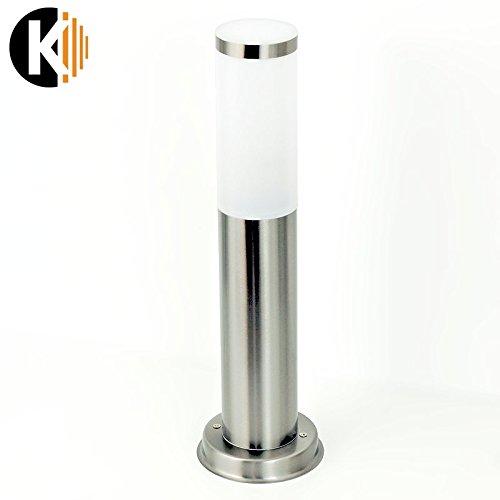 PREMIUM-Wegeleuchte-GARDENA-8D-Edelstahl-INNOX-Nickel-Matt-stehend-E27-Fassung-Standllampe-mit-IP44-Schutz-Hauswand-Lampen-Leuchten-Beleuchtung
