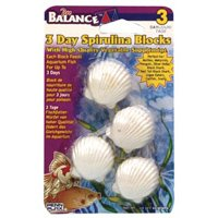Penn Plax Spirllina Shell Shape Vacation Food 3 Day
