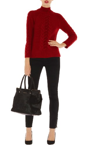 Twisted Cable Knit Turtleneck