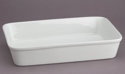 hic oblong rectangular baking dish roasting lasagna pan fine white porcelain 13 inches x 9. Black Bedroom Furniture Sets. Home Design Ideas