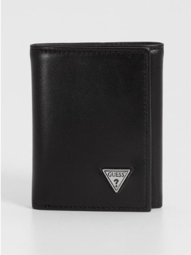 GUESS Apache Trifold with Stitched Edge Wallet
