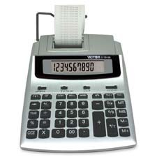 Victor Technologies Products - 10-Digit Calc., 2-Clr Printing, Antimicrobial, 5-3/4