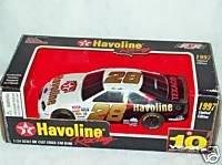 1997 Ernie Irvan #28 Havoline Ford Thunderbird 1:24 Scale Die Cast Stock Car Bank