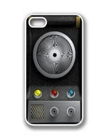 Paradise Life Design Cool Star Trek Communicator White Rubber Silicone Apple iPhone 4/4s Case Cover