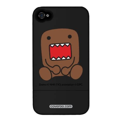 Sitting Domo design on a Black iPhone 4 / 4S Slider Case