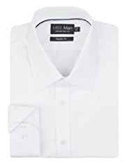2in Longer Performance Non-Iron Pure Cotton Plain Shirt