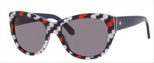 Kate Spade Sunglasses - Kia / Frame: Diagonal Dots Lens: Dark Gray-Kias0W27