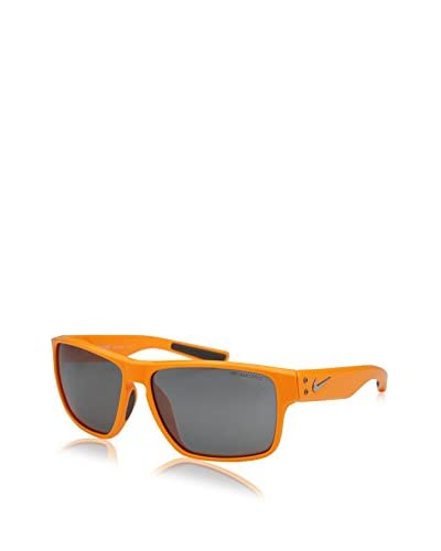 Nike Grey with Silver Flash Lens Mavrk Sunglasses, Laser Orange/Turbo Green