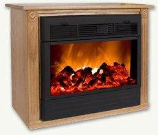 Heat Surge Fireplace with Amish Made Mantle Oak photo B001O4CTTQ.jpg