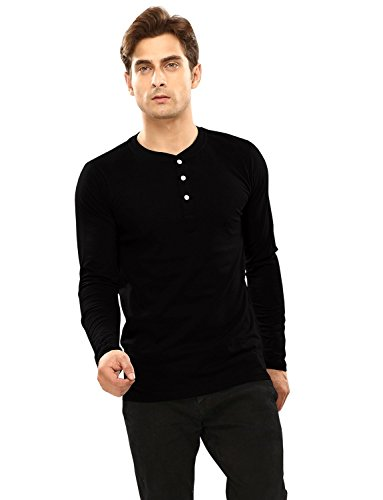 5db592486135 Softwear Mens Black V-neck Full sleeve T-shirt Price in India