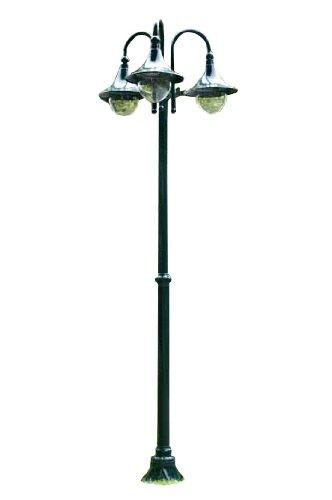 lampioni da giardino lanterne 6x h110 cm verde scuro illuminazione da esterno recensione. Black Bedroom Furniture Sets. Home Design Ideas