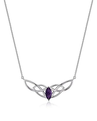 Divas Diamond Collar Amethyst Unending Universe Necklace plata de ley 925 milésimas