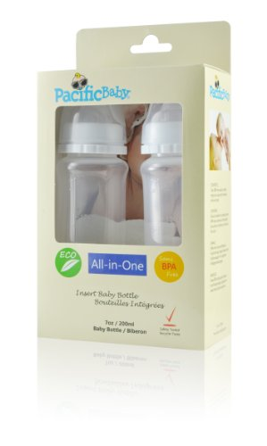 Pacific Baby Insert Baby Bottle, 2-Count