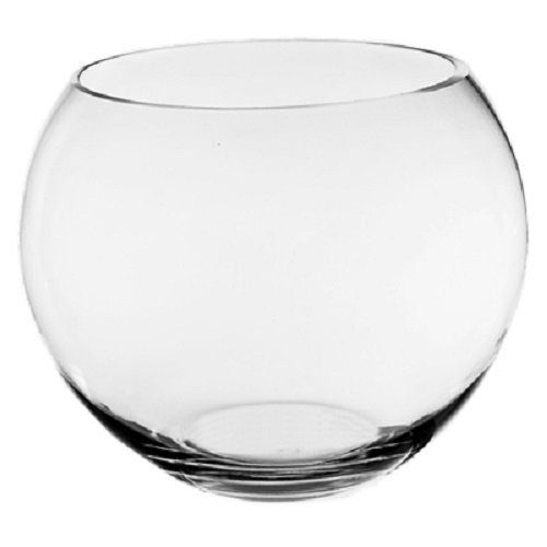 CYS® Glass Bubble Bowl, Fish Bowl Hand Blown Glass Vase, Body D-8