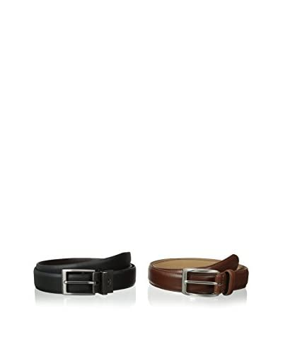 Dockers Men's 2 Belts In A Box Black Reversible and Brown Casual Belts