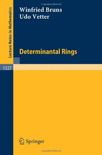 Large book cover: Determinantal Rings